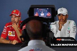 Hamilton celebra los éxitos en pistas que Ferrari era favorito