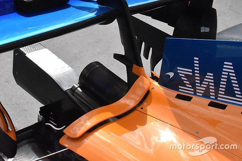 McLaren: ecco il soffiaggio che migliora l'estrazione del calore dai radiatori