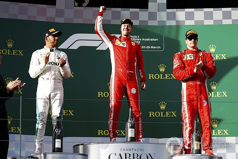 Australian GP: Vettel beats Hamilton with strategy call