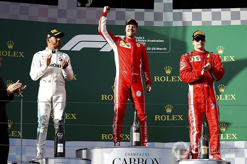 """澳大利亚大奖赛:维特尔以策略战胜汉密尔顿,法拉利收获""""开门红"""""""