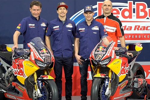 Honda World Superbike-team onthult nieuwe Fireblade met Red Bull-ondersteuning