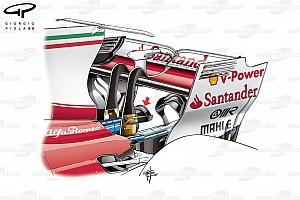 Formel 1 Analyse Formel-1-Technik: Ferrari und das heiße Heck des SF70H
