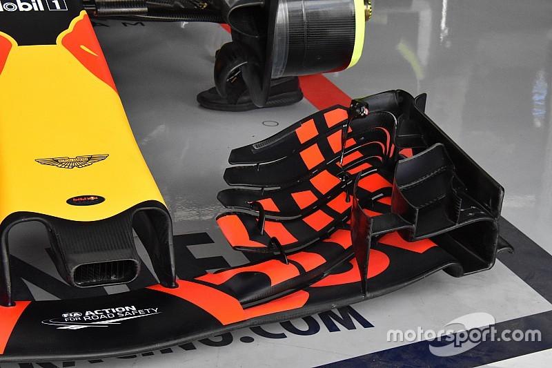Egészen extrém első szárnnyal rohamozott a Red Bull Silverstone-ban