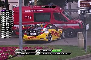 VÍDEO: Piloto sai da pista e atinge carro de bombeiros