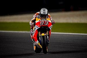 MotoGP Qatar: Meski terjatuh, Marquez tercepat di warm-up