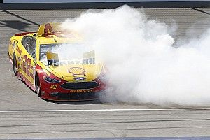 """Logano praises """"out of control cars"""" with Michigan rules package"""