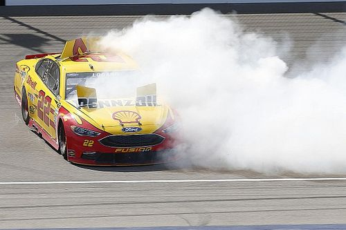 "Logano praises ""out of control cars"" with Michigan rules package"