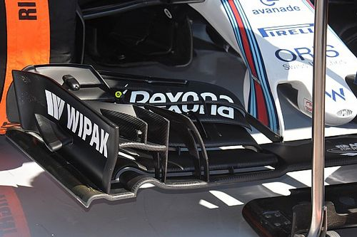Bite-size tech: Williams FW38 front wings