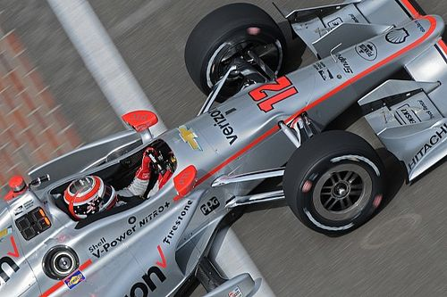 Team Penske dominates third practice at IMS
