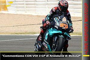 Report LIVE MotoGP: commentiamo CON VOI il GP d'Andalusia