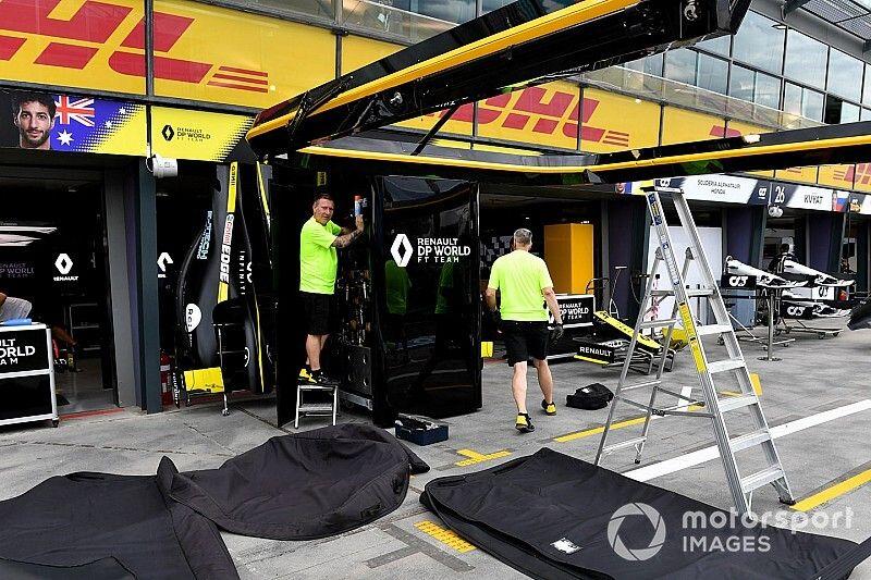 Renault F1 se anticipó al parón por el coronavirus