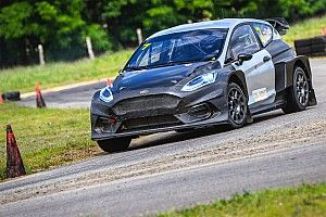 Electric rallycross car makes winning debut with Stohl