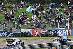 Shedden and Edwards disagree on Thruxton BTCC crash blame