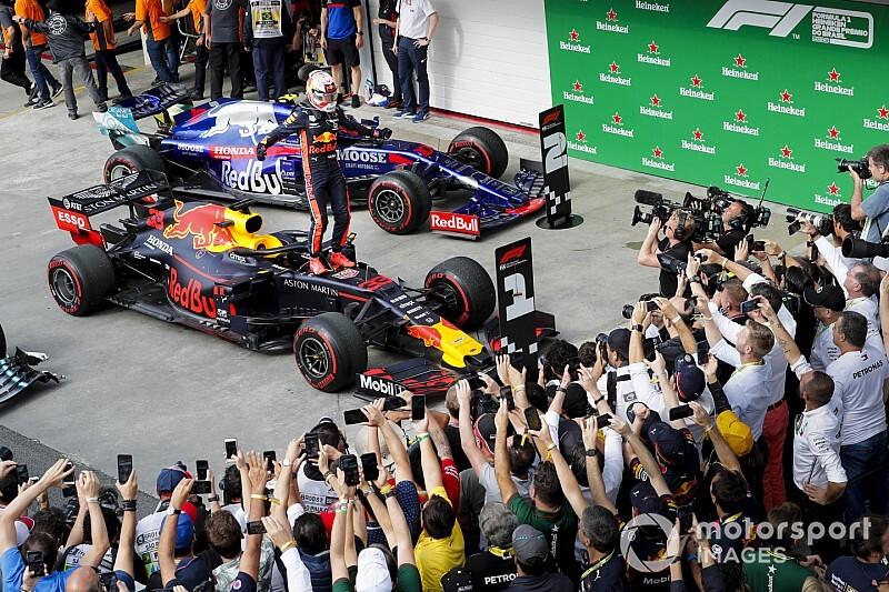 Безумие в Бразилии: пилоты Ferrari столкнулись, Гасли второй, выиграл Ферстаппен