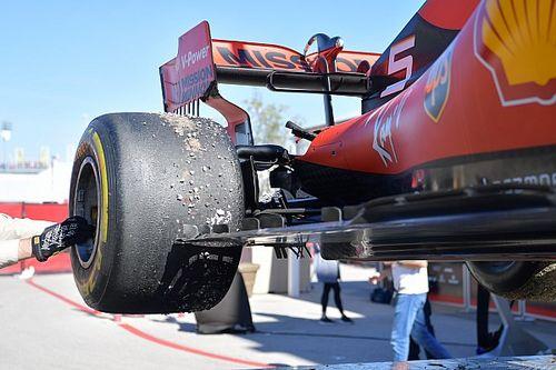GALERÍA: la suspensión rota del Ferrari de Vettel