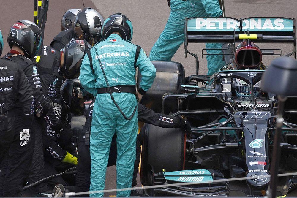 F1: Porca da roda de Bottas ainda está presa no carro após problema de pit stop em Mônaco