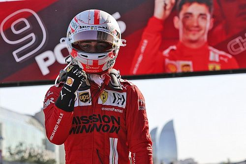 Azerbaijan GP: Leclerc grabs pole after chaotic end to Q3