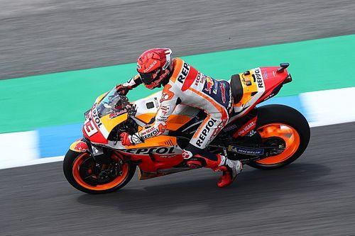Pas de blocage pour Márquez en retrouvant le lieu de son accident