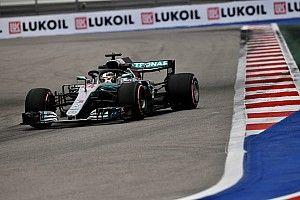 FP3 GP Rusia: Hamilton kalahkan rekor waktu Vettel di Sochi