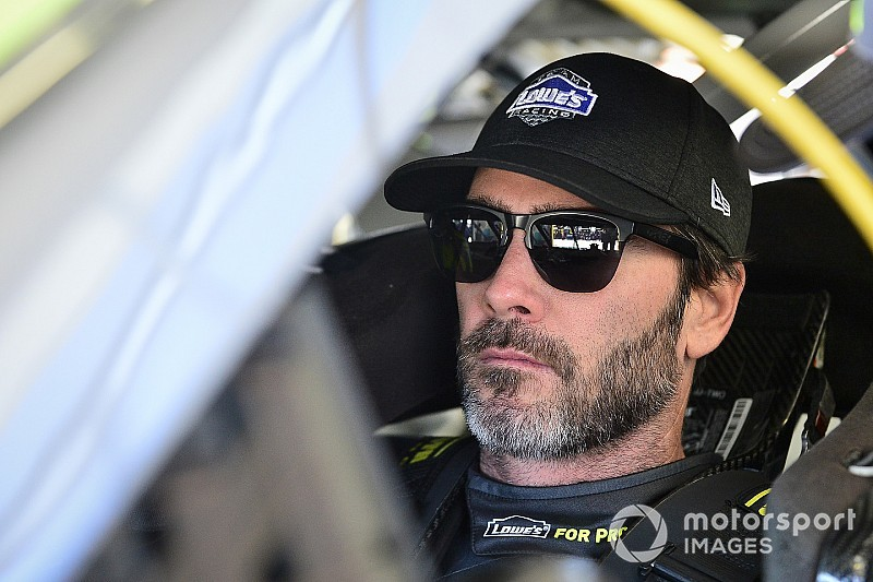 "If on his way out of playoffs, Jimmie Johnson will ""go down swinging"""