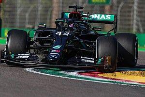 Hamilton topt enige training in Imola, tweede tijd Verstappen