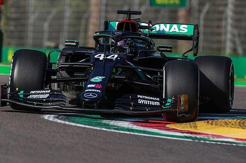 Hamilton supera a Verstappen en la única práctica en Imola