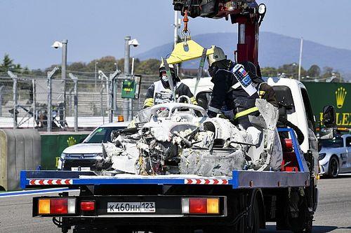 F2: FIA explica demora dos fiscais para apagar fogo no carro de Ghiotto após acidente