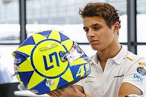 Norris correrá con un casco en homenaje a Rossi en Monza