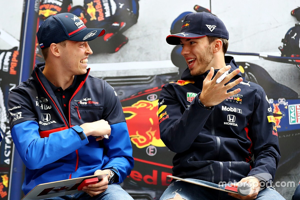 "Kvyat a ""living example"" of bouncing back for Gasly"