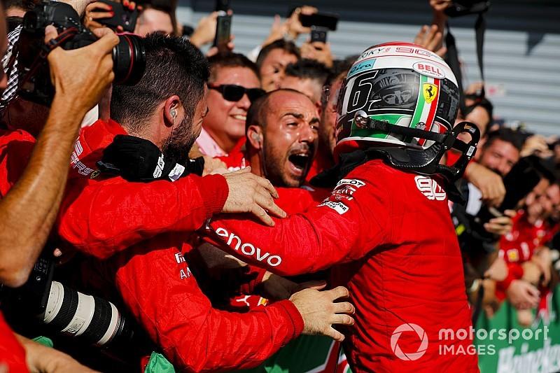 """El presidente de Ferrari agradece a Leclerc por """"el mejor regalo"""""""
