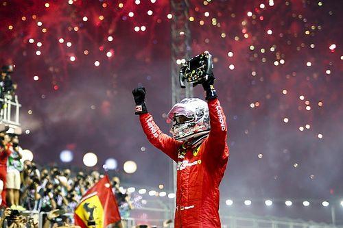 Феттель выиграл в Сингапуре благодаря тактике, Ferrari завоевала дубль