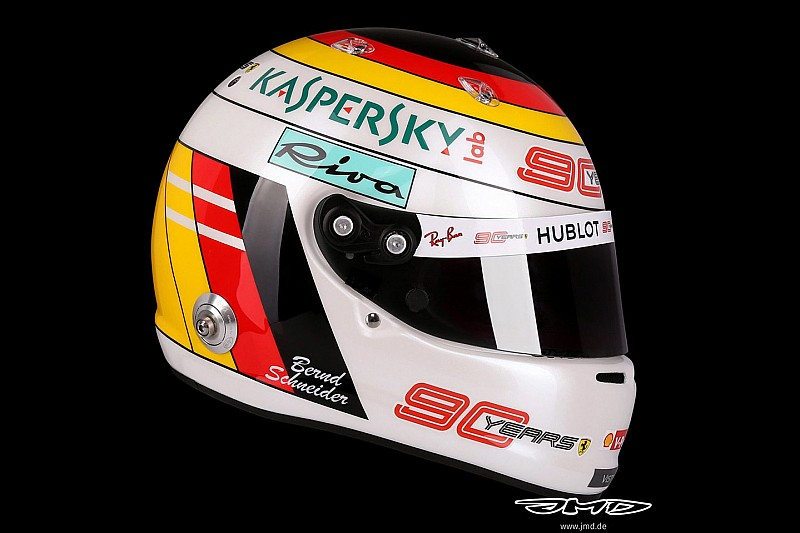 Vettel, Mercedes'in misafiri DTM efsanesi Schneider temalı kask hazırladı