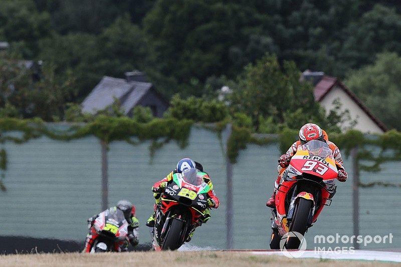 Sachsenring MotoGP: Marquez tops damp warm-up