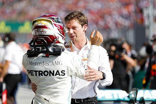 """Hamilton na duel met Verstappen: """"Dacht niet dat het ging lukken"""""""