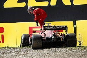 Videón, ahogy Leclerc összetöri a Ferrarit az imolai második szabadedzésen