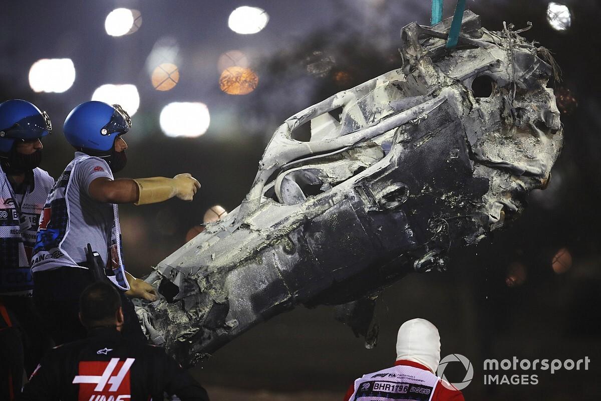F1: Antes contrário ao halo, Grosjean admite que item salvou sua vida