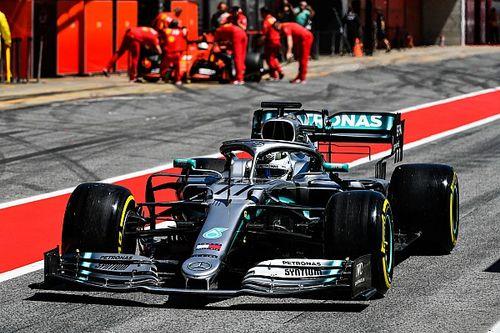 Bottas lidera 1º dia de testes da F1 por 1,4s; Fittipaldi termina em 7º