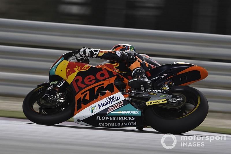 Binder snelste op eerste dag Moto2-test Qatar, Bendsneyder dertiende