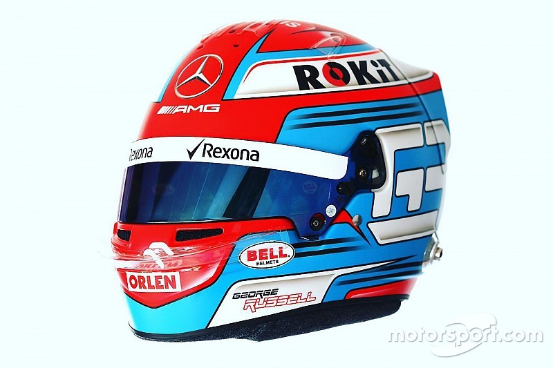Расселл представив шолом для першого сезону в Ф1