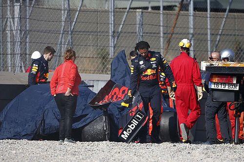 """F1: Gasly """"abalado"""" após batida forte em teste de Barcelona"""