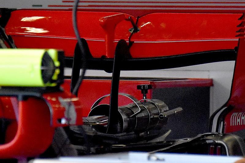 Különleges hátsó szárny a Ferrarinál Silverstone-ban