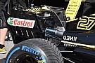 Formula 1 Renault: ala posteriore scarica e paratie con i soffiaggi McLaren