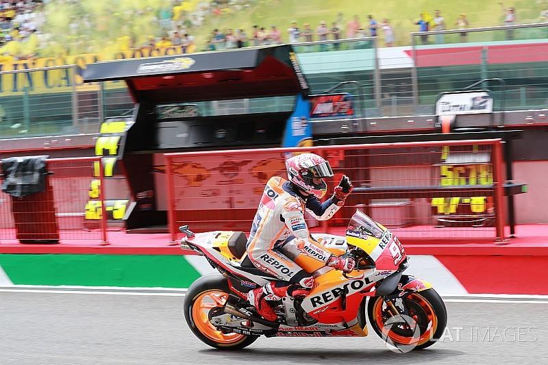 Marquez snelt naar ronderecord in derde training GP van Italië