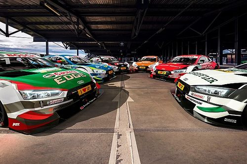 In beeld: De DTM-bolide van Robin Frijns en zijn Audi-collega's