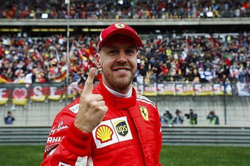GP Tiongkok: Vettel kalahkan Raikkonen, Ferrari start 1-2