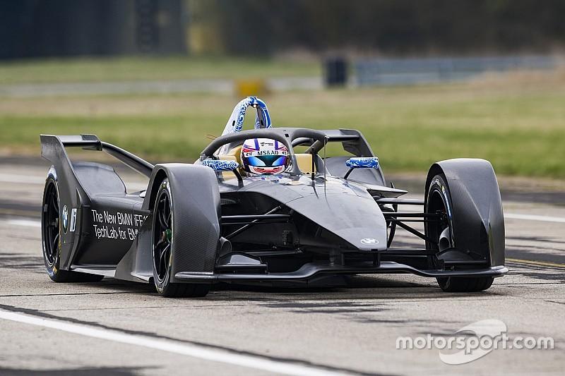 BMW mit dem neuen Formel-E-Auto erstmals auf der Strecke