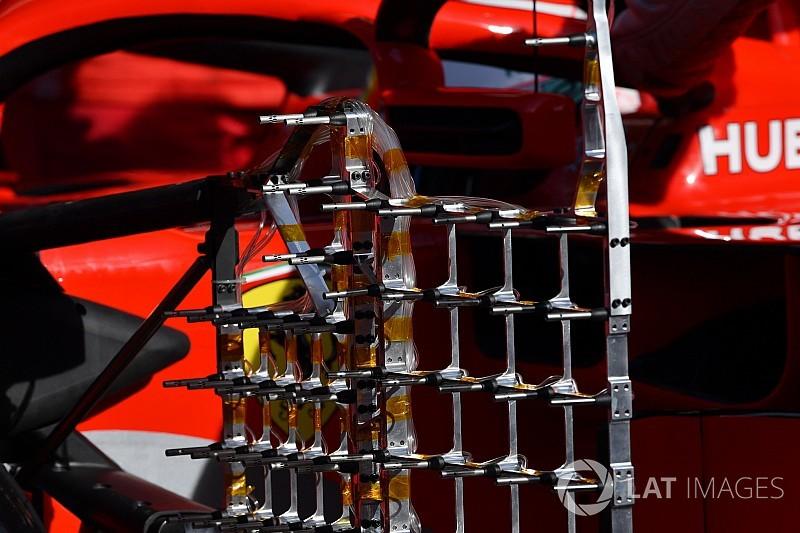 Test Barcellona: la Ferrari sulla SF71H ha montato anche un... cancello!