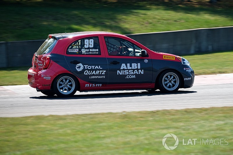 Olivier Bédard takes victory at penultimate round of the Nissan Micra Cup
