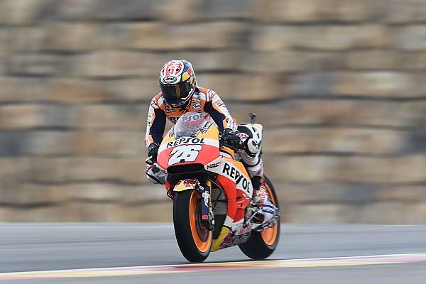 MotoGP Reporte de pruebas Pedrosa, el más rápido el primer día en Aragón; Rossi, resiste