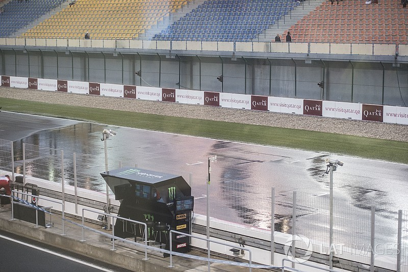 Los equipos de MotoGP recibieron el protocolo para el test en mojado de Qatar